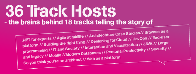 36 trackhosts - the brains behind 18 tracks telling the story